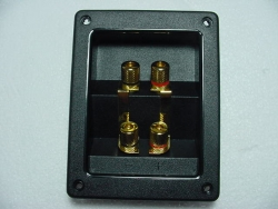 Dual Gold Plated Bi-wire Terminal - Product Image